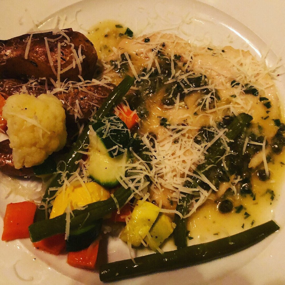 Eastside Motors Baltimore Maryland: Chicken Piccata With Veggies And Potatoes Was Delectable