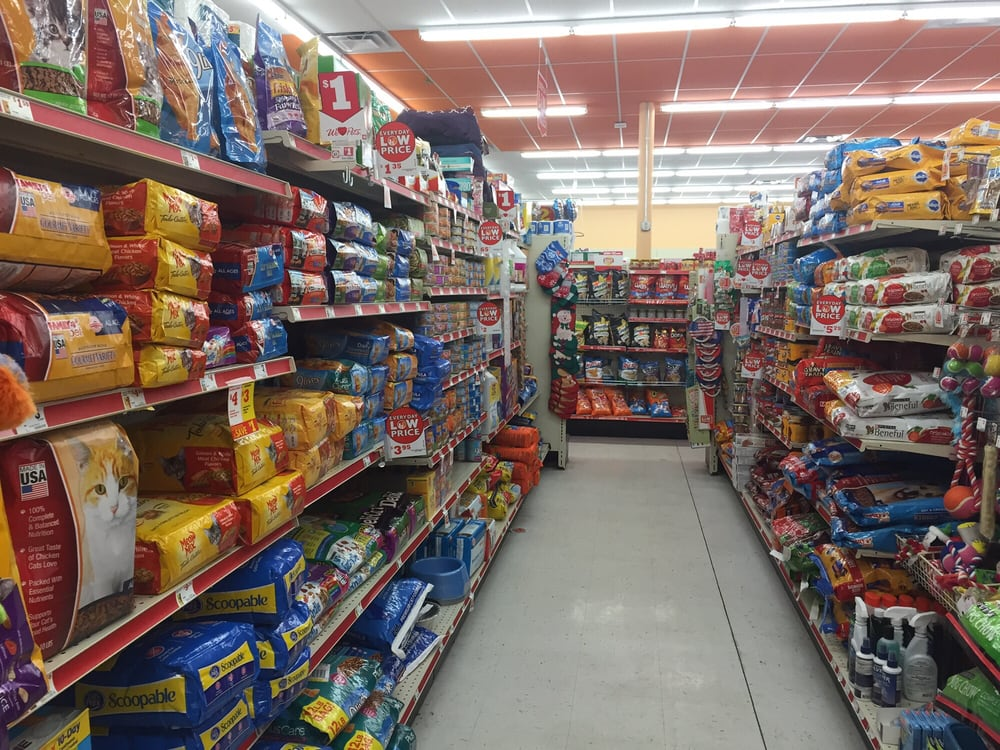 Family Dollar Toys : Pet aisle cat and dog food selections toys