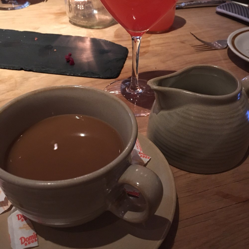 Coffee and cream in a honeypot! - Yelp