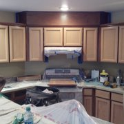 Typical Dried Out Lacquer Photo Of Cabinet Renovations   Renton, WA, United  States. Light Oak Color Change