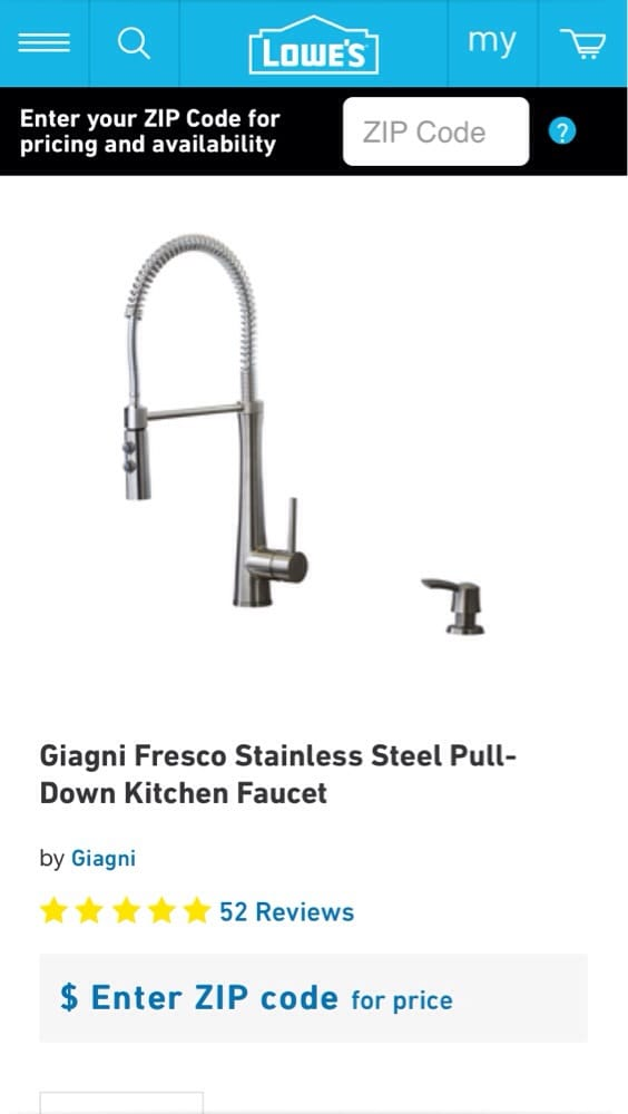 I bought the Giagni Fresco kitchen faucet-I had the plumbers install ...