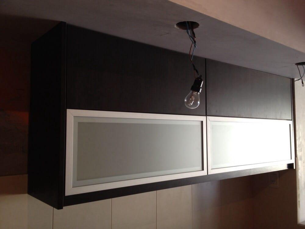 Alacena doble de puertas abatibles melamina roble moro for Muebles para alacena de cocina