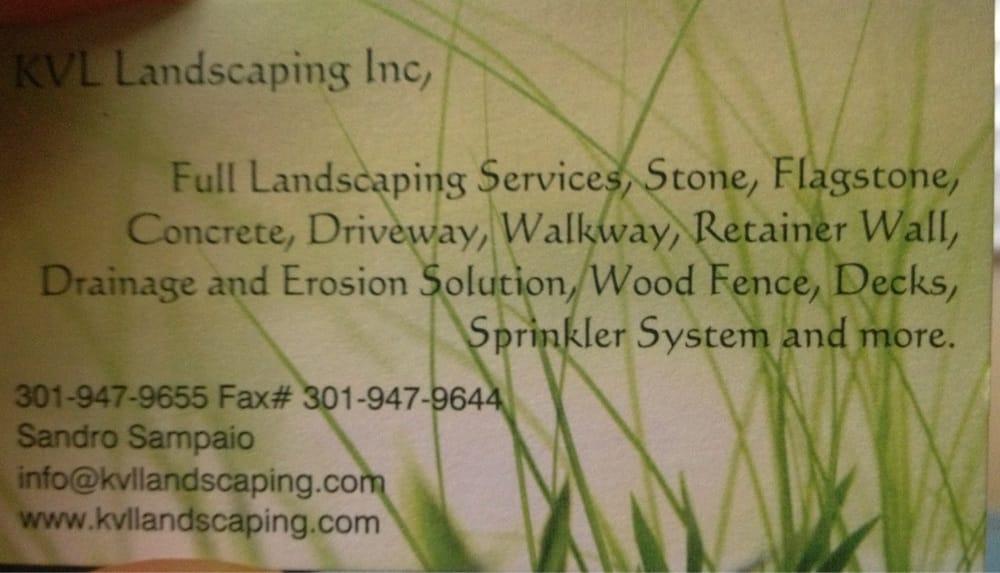 KVL Landscaping: Rockville, MD