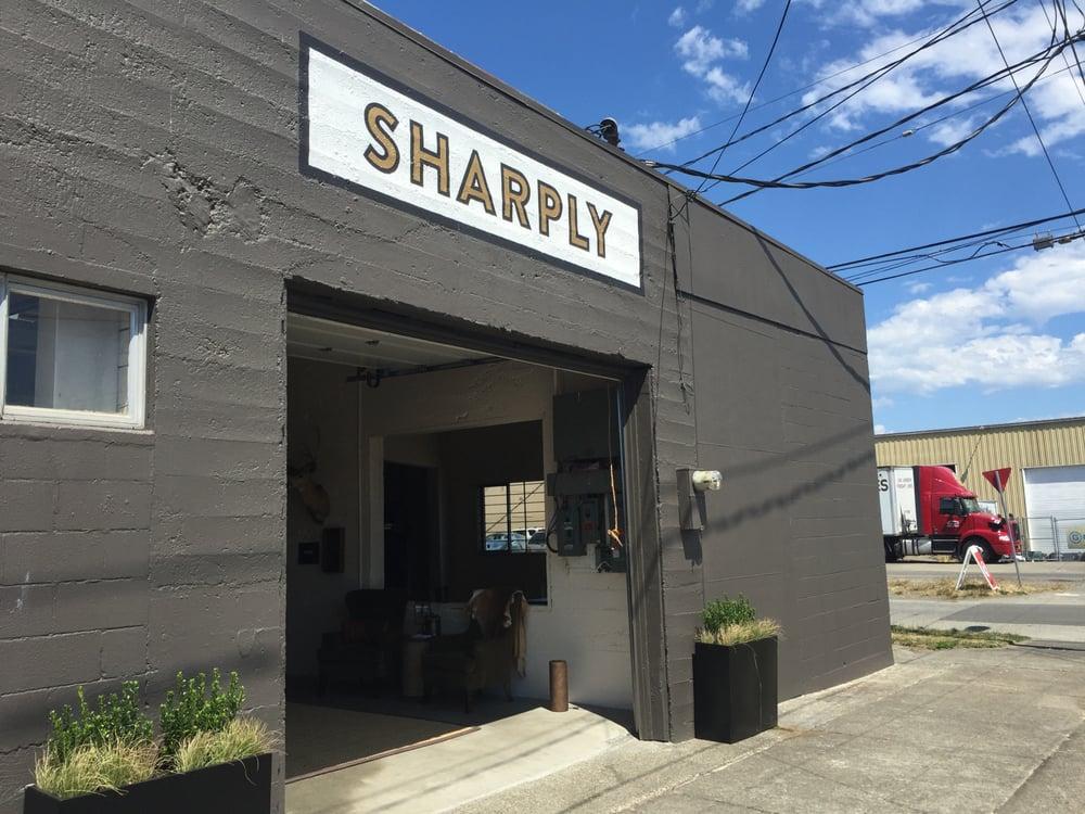 Sharply