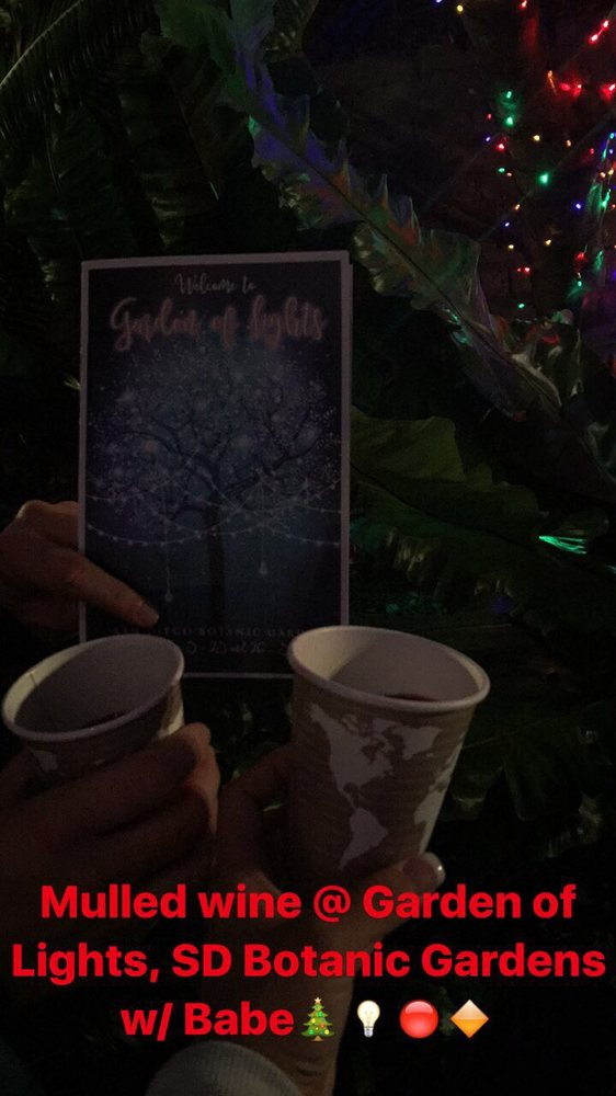 Must visit in December for Garden of Lights mulled wine Yelp