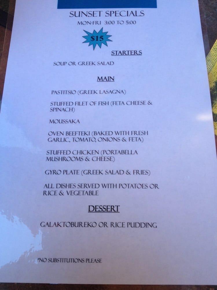 Cafe Italia Palm Springs Menu