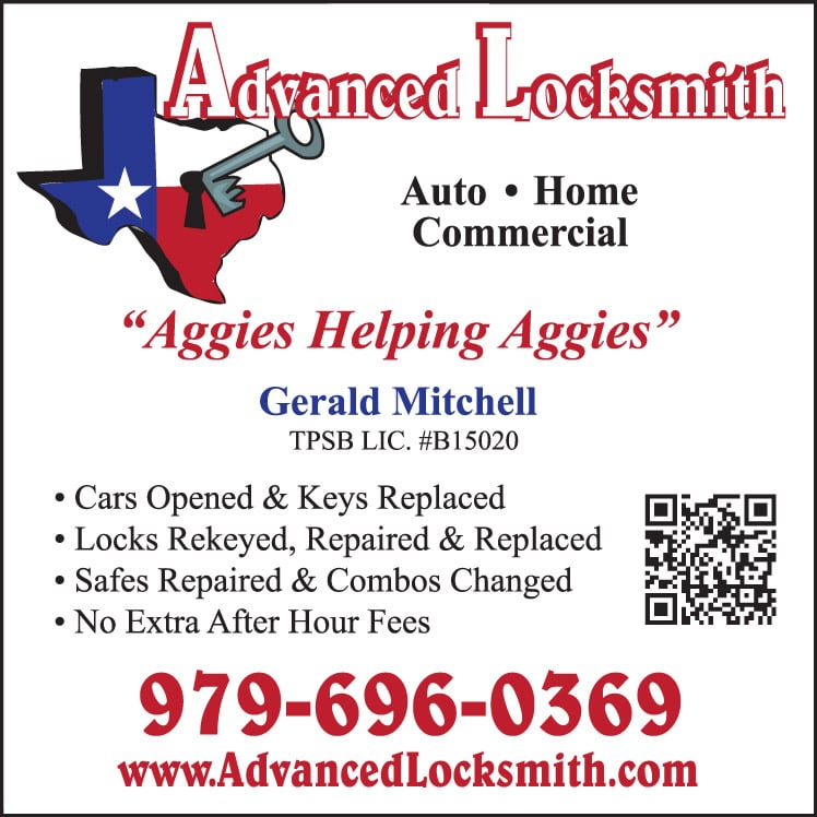 Advanced Locksmith: 1112 Winecup Cir, College Station, TX