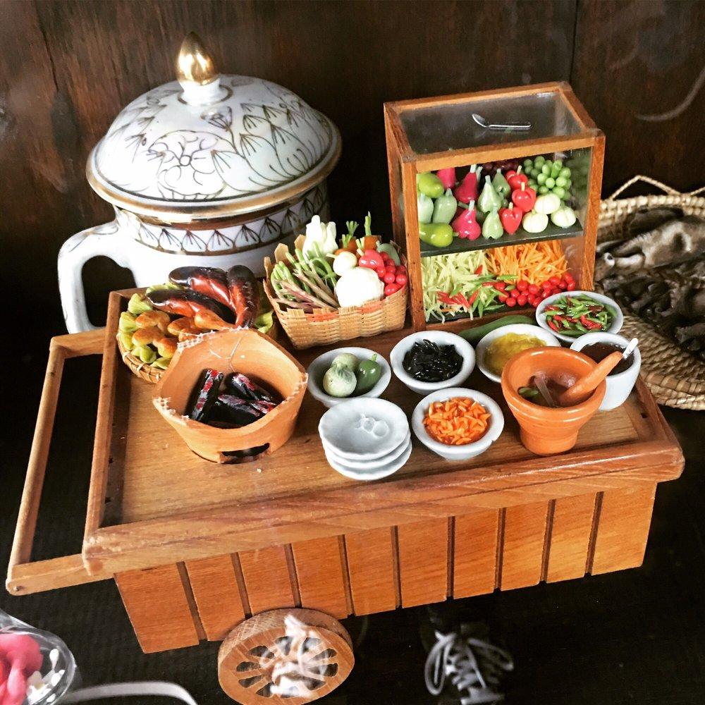 Cute Miniature Food Cart Decoration.