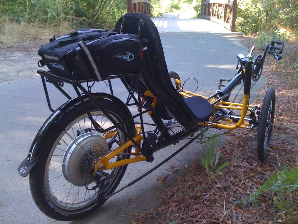 Steintrike madmax with bionx electric motor kit yelp for Recumbent bike with electric motor