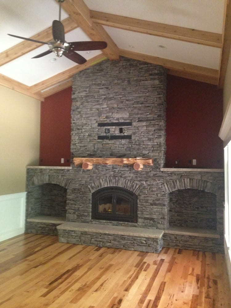 Fireplace Done With Grey Southern Ledgestone By Boral