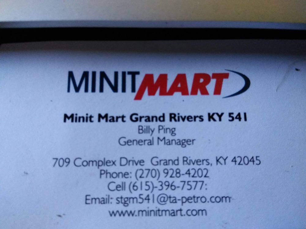 Minit Mart: 709 Complex Dr, Grand Rivers, KY