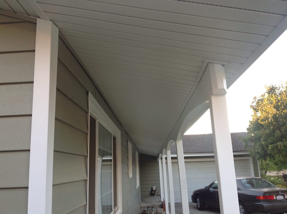 Covered Porch Ceiling With Vinyl Soffit Yelp
