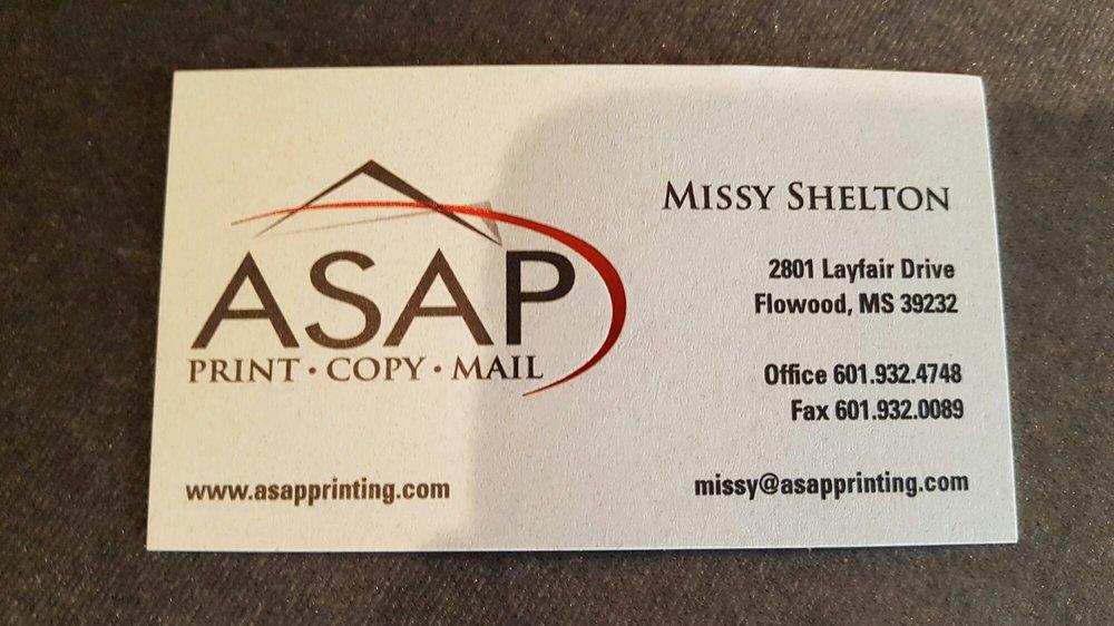 Asap Printing & Copying: 2801 Layfair Dr, Flowood, MS