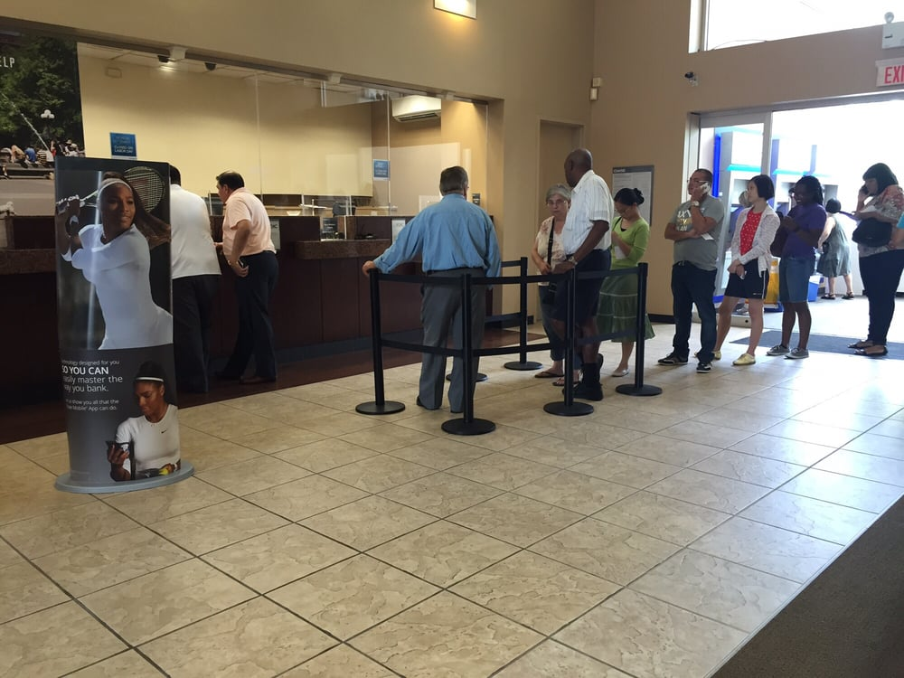 Always Long Lines Here With One Teller Yelp
