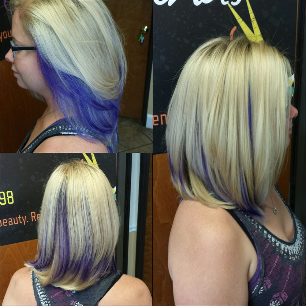 Blonde Highlights And Peek A Boo Purple Yelp