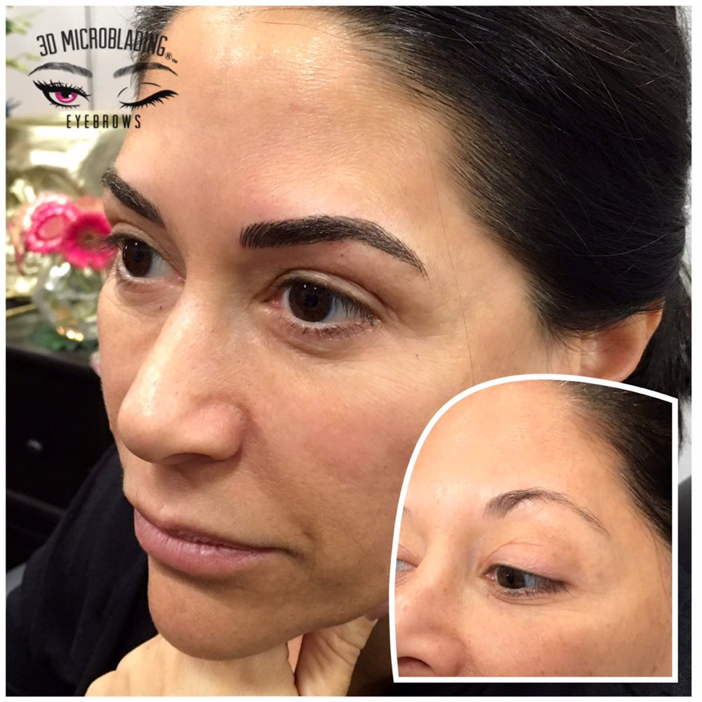 Microblading before and after photo. - Yelp