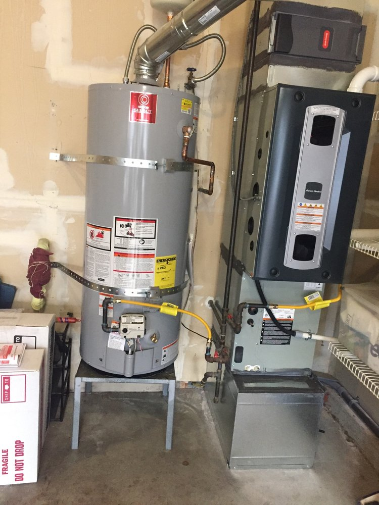 Replaced Old Gas Furnace And Water Heater High Efficent