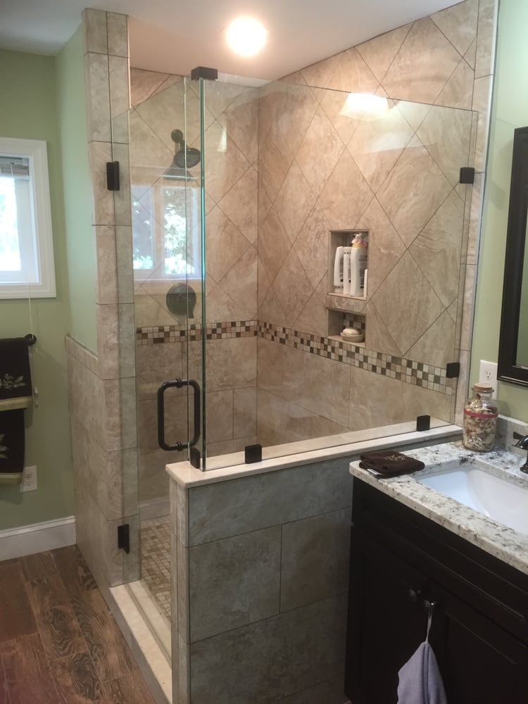 Love the new glass shower enclosure and glass shower door. - Yelp