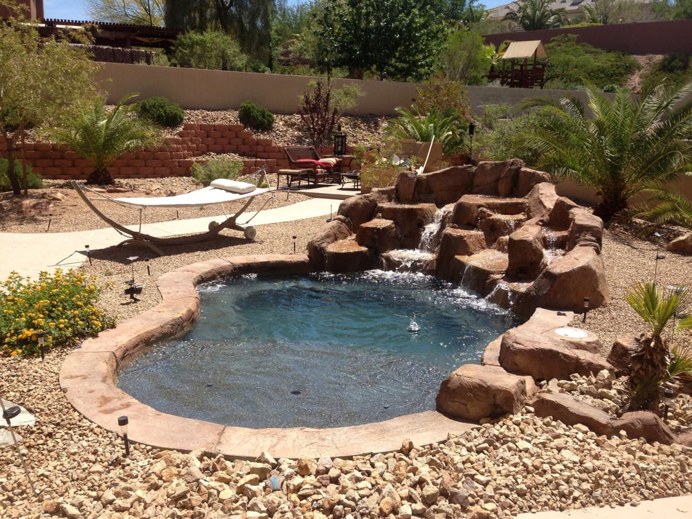 Can 39 t fit a full sized pool in your yard how about a for Pool design las vegas