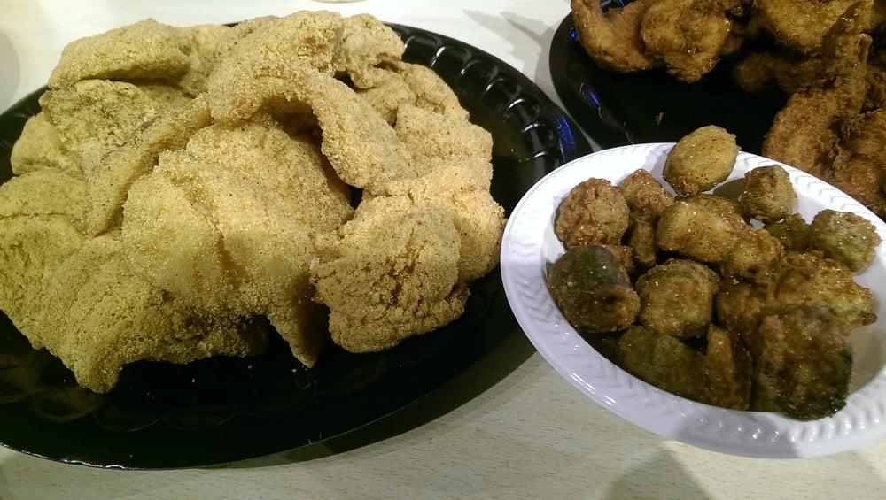 Fried catfish fried okra yelp for Bourbon street fish
