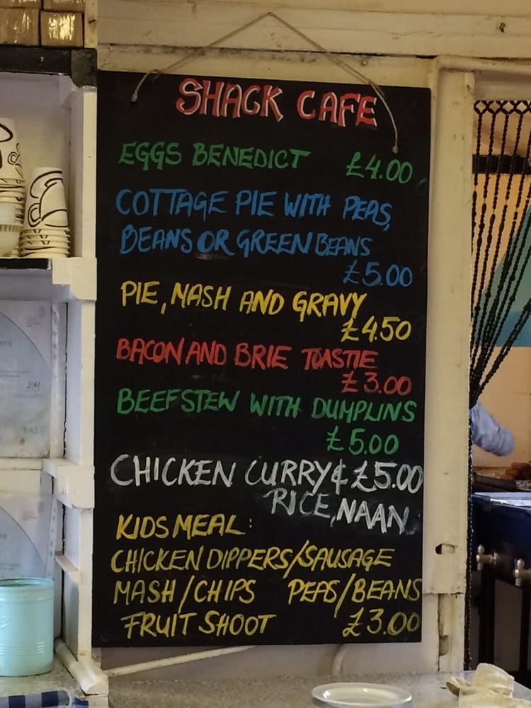 The Shack, Hook Menu