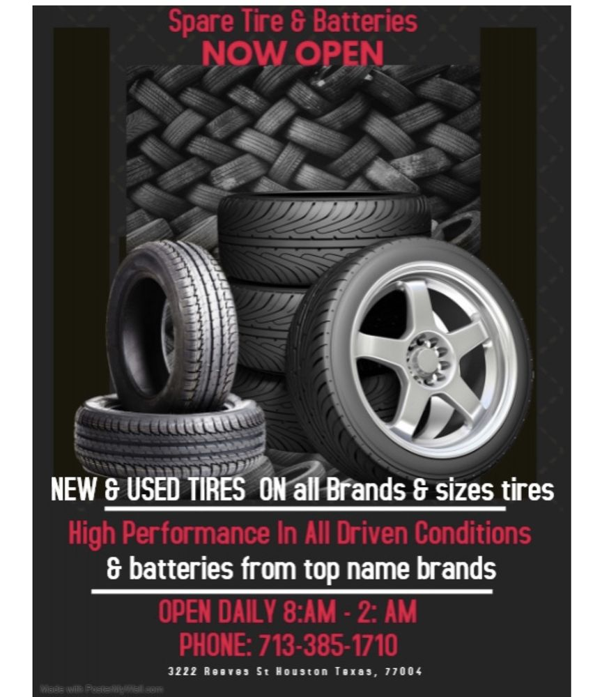 Tire Places Near Me Open Now >> Spare Tires Batteries Tires 3222 Reeves St Third Ward