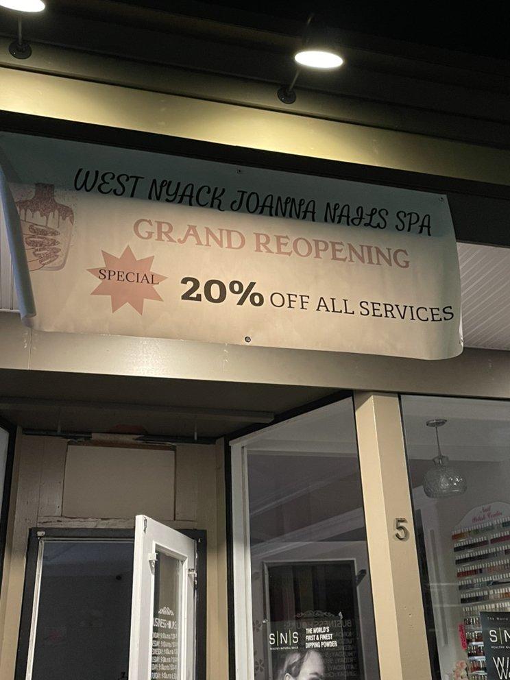 West Nyack Joanna Nails: 726 W Nyack Rd, West Nyack, NY