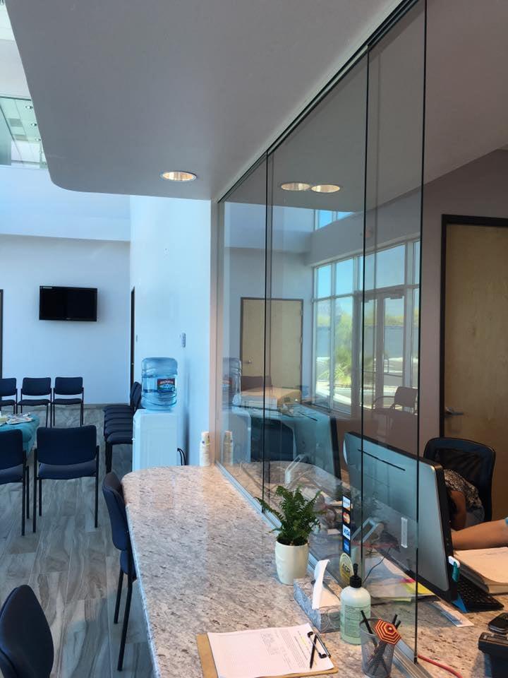 Sliding Glass Windows Reception Desk Yelp