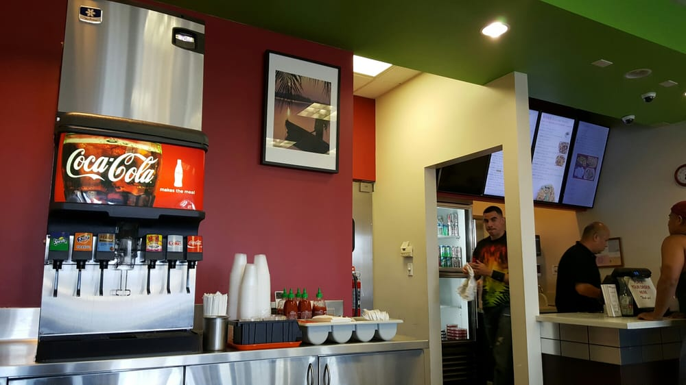 Front of the house. Very clean and simple interior design. - Yelp on fast food design, peruvian design, greek design, african design, american design, international design, middle eastern design, buffet design, catering design, hawaiian design, southwestern design, puerto rican design, eclectic design, pizza design, korean design, mongolian design, tibetan design, steakhouse design, mexican design, persian design,