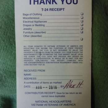Vietnam Veterans Of America Donation Truck Community Service Non