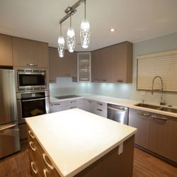 Photo Of Spectrum Stone Richmond Bc Canada Completed Kitchen With Our Pure