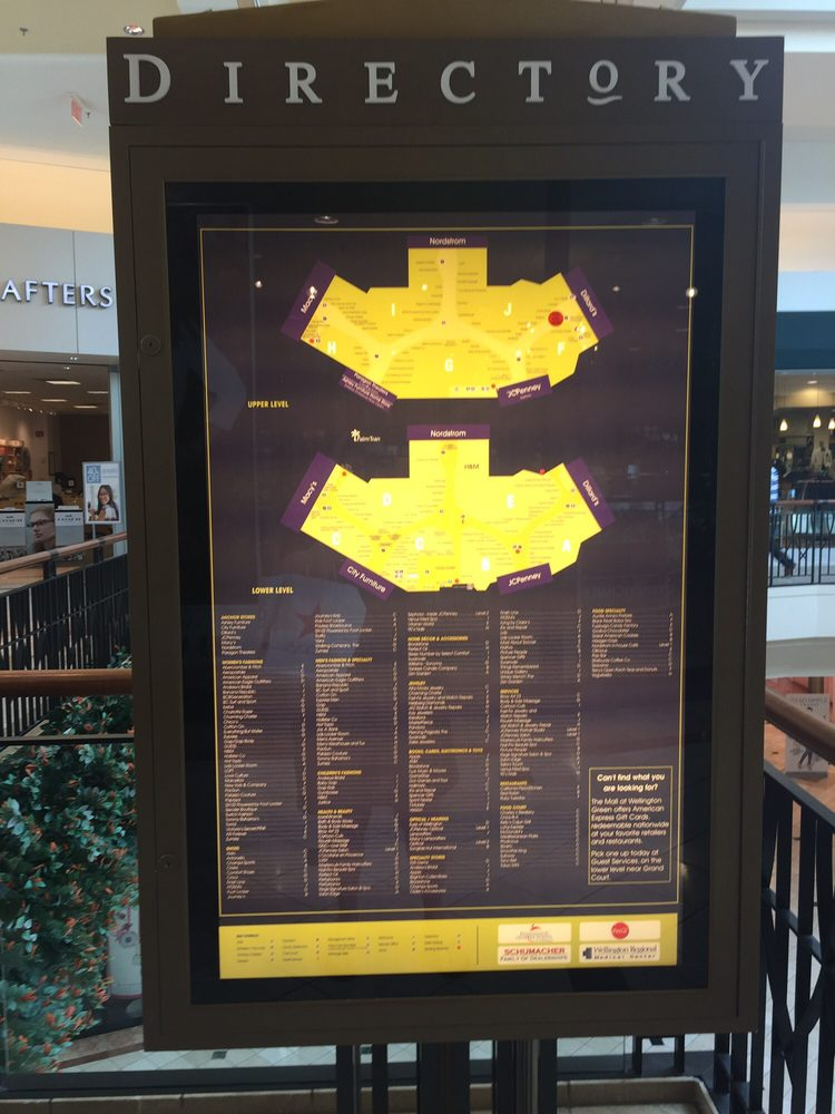 Wellington Mall Map