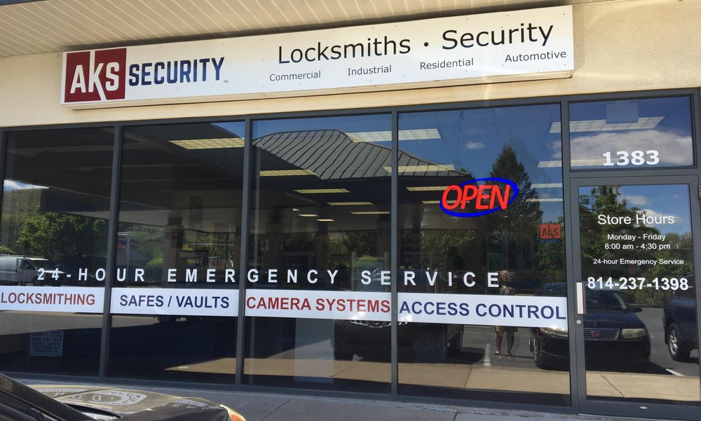 AKS Security - Auman's Key Shop: 1383 E College Ave, State College, PA