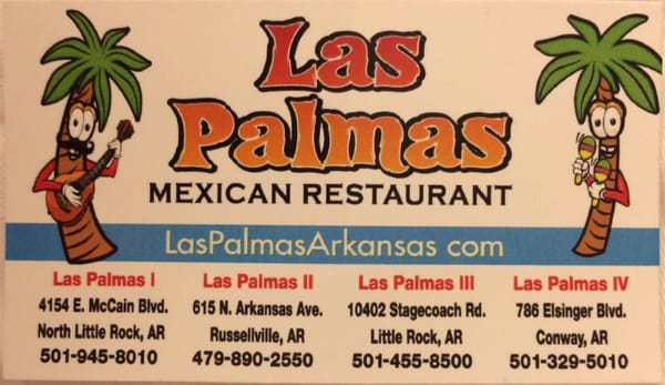 Las Palmas Mexican Restaurant 4154 E Mccain Blvd North Little Rock Ar Restaurants Mapquest