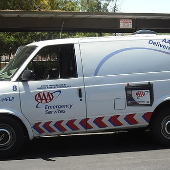 The battery service van which came to my apartment complex