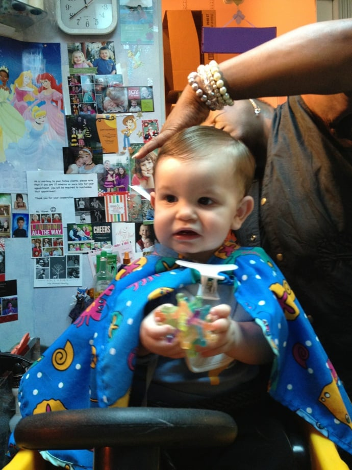 My 1 Year Old Had A Blast Getting His Haircut By Miss Karen Yelp