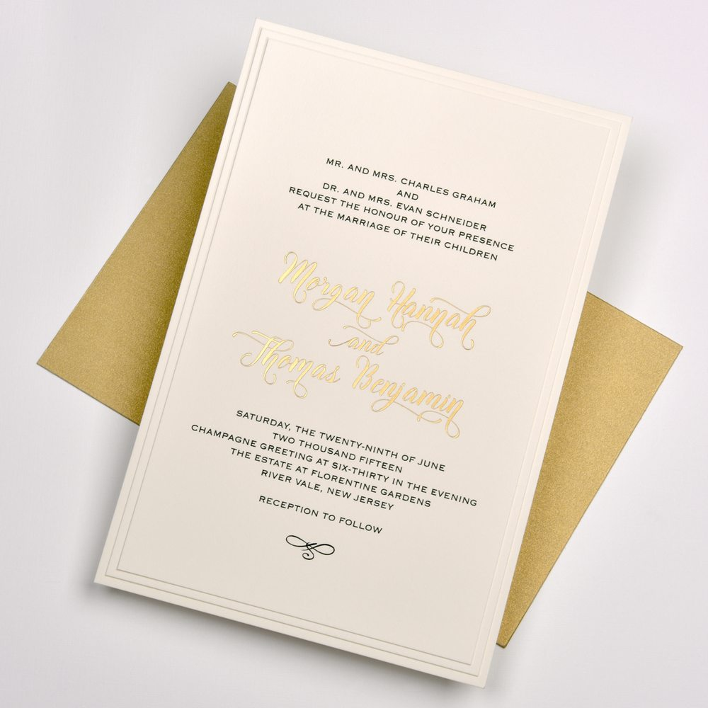 the petite acorn a sample wedding invitation in their fort
