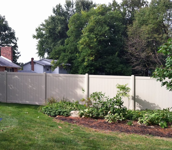 Beige Traditional Vinyl Privacy Fence Yelp