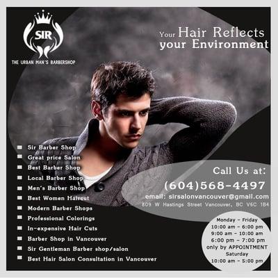 Sir hair salon hair salons 809 w hastings street for A p beauty salon vancouver wa