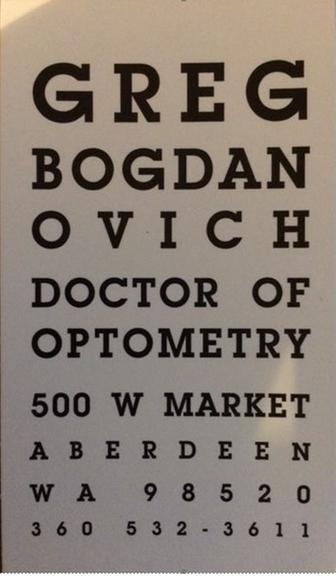 Gregory G Bogdanovich, OD: 500 W Market St, Aberdeen, WA
