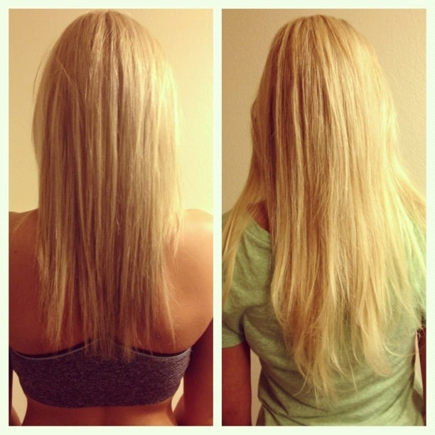 Before And After Of The Hot Heads Tape Extensions Yelp