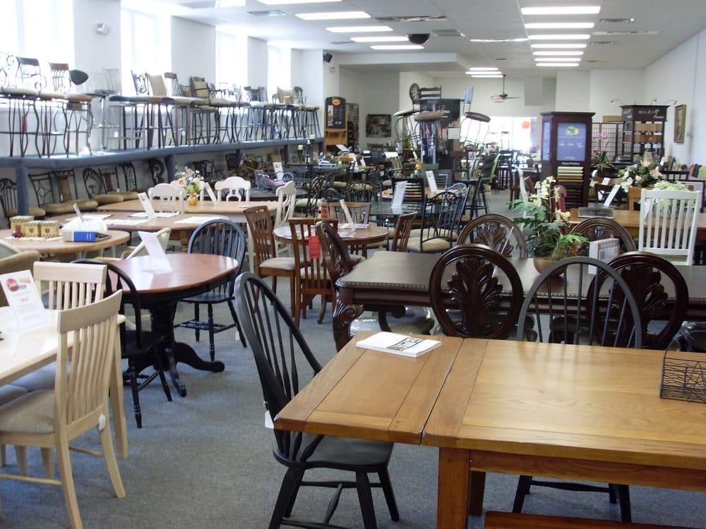 Deptford furniture showroom kitchen sets on display