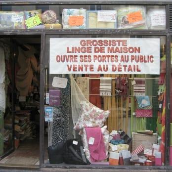 fournisseur de linge de lit Grossiste linge de maison   Grossiste   75 rue de la Roquette  fournisseur de linge de lit