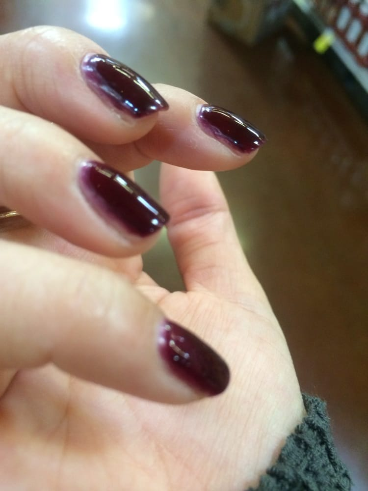 The worst no chip manicure I\'ve ever gotten. Looks like the Polish ...