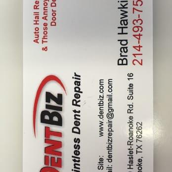 Dent Biz Mobile Dent Repair 3800 Haslet Roanoke Rd