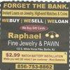 Raphael Fine Jewelry & Pawn: 122 W White Horse Pike, Berlin, NJ