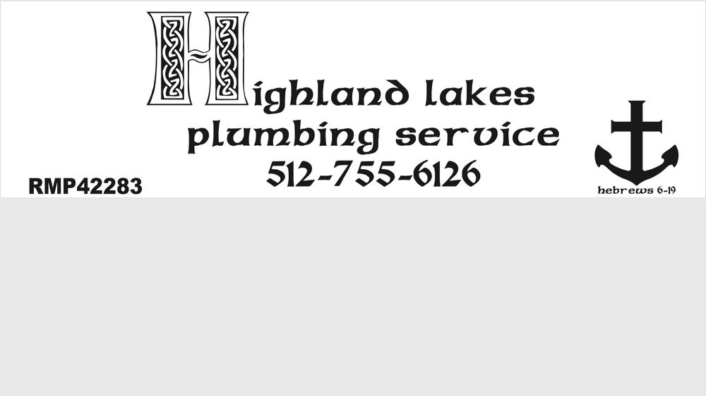 Highland Lakes Plumbing Service: 508 E Jackson, Burnet, TX