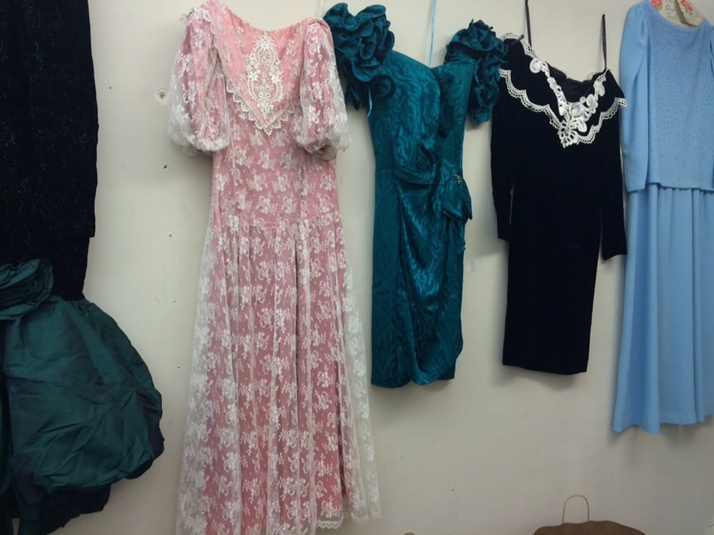 Upstairs they displayed prom dresses from past years. - Yelp