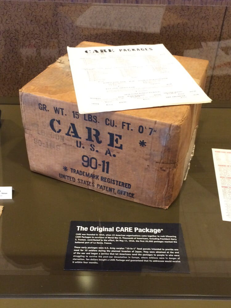 original CARE package at Smithsonian