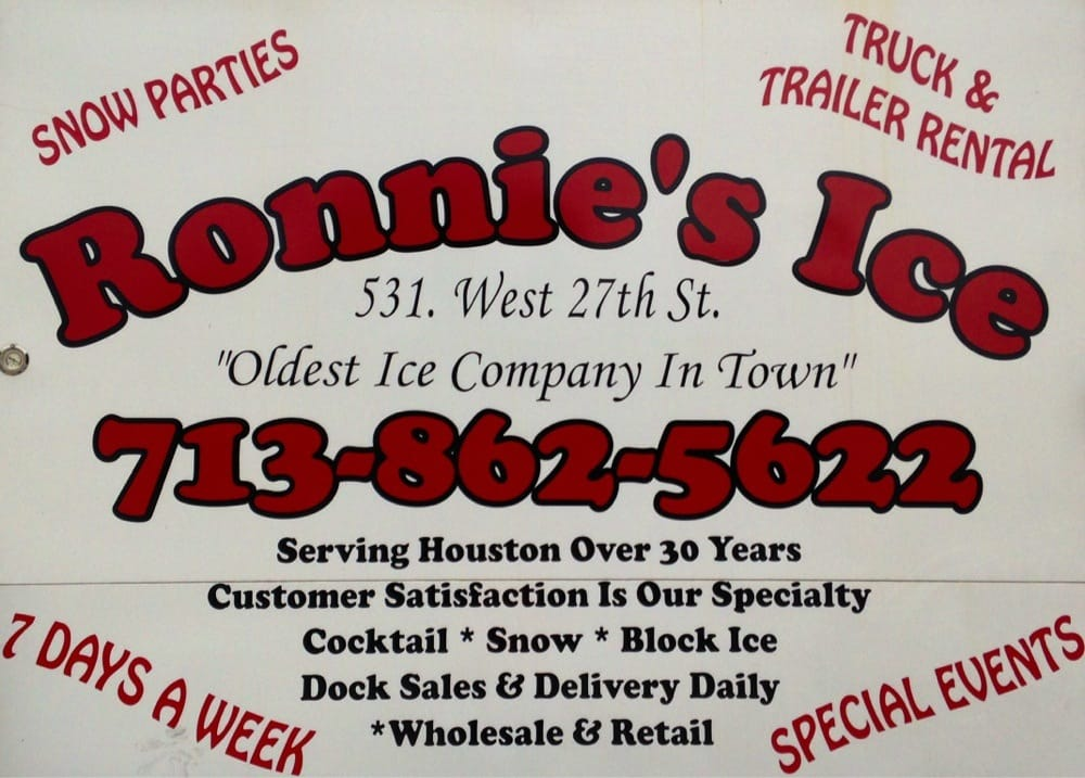 Ronnie's Ice: 531 W 27th St, Houston, TX